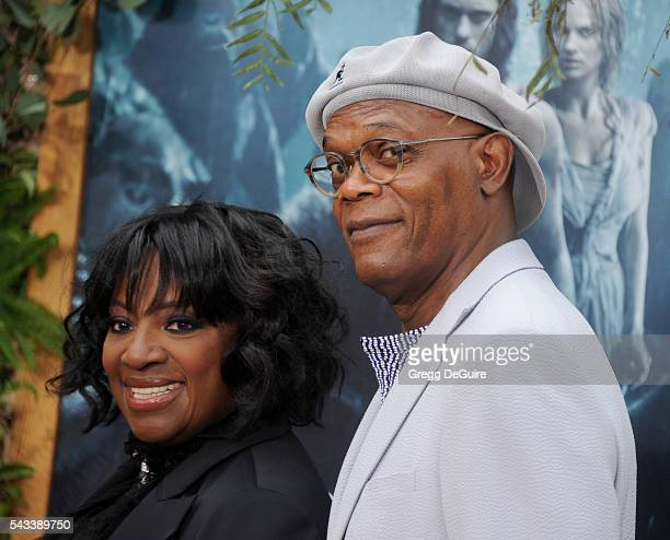 Actor Samuel L Jackson and wife LaTanya Richardson arrive at the premiere of Warner Bros Pictures' 'The Legend Of Tarzan' at TCL Chinese Theatre on...