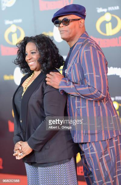 Actor Samuel L Jackson and wife LaTanya Richardson arrive for the premiere of Disney And Pixar's 'Incredibles 2' on June 5 2018 in Los Angeles...