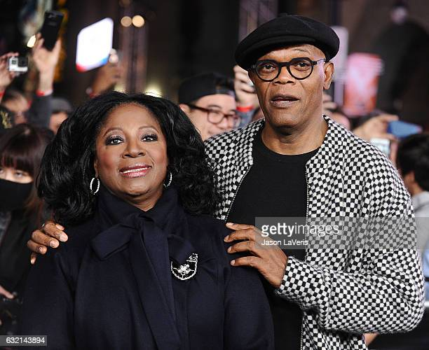 Actor Samuel L Jackson and wife LaTanya Richardson attend the premiere of 'xXx Return of Xander Cage' at TCL Chinese Theatre IMAX on January 19 2017...