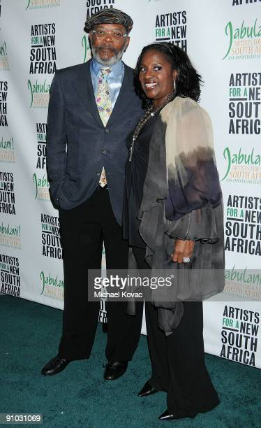 Actor Samuel L Jackson and wife LaTanya Richardson Jackson attend 'Artists For A New South Africa Jabulani 20th Anniversary Celebration' at The...
