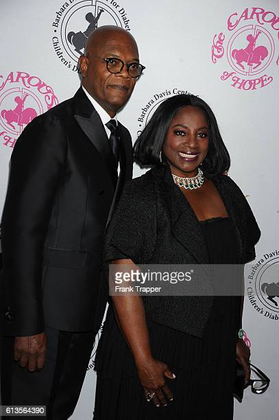 Actor Samuel L Jackson and wife LaTanya Richardson Jackson attend the 2016 Carousel Of Hope Ball at The Beverly Hilton Hotel on October 8 2016 in...