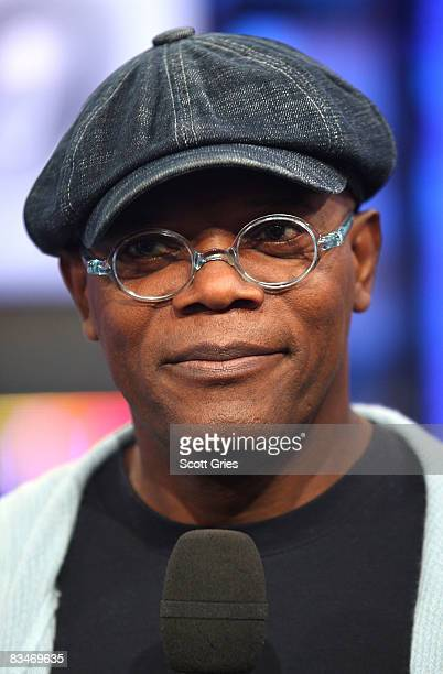 Actor Samuel L Jackson appears onstage during MTV's Total Request Live at the MTV Times Square Studios October 28 2008 in New York City