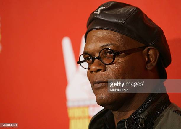 Actor Samuel L Jackson arrives at Spike TV's 5th Annual Video Game Awards held at Mandalay Bay Events Center on December 7 2007 in Las Vegas Nevada