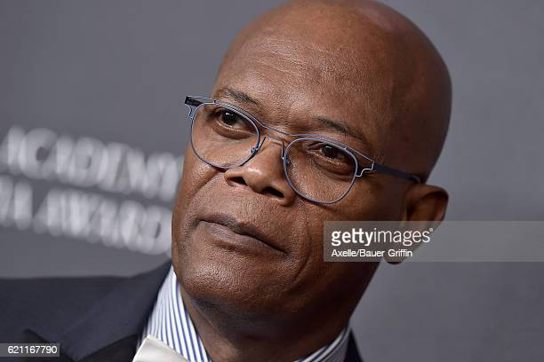 Actor Samuel L Jackson arrives at the 2016 AMD British Academy Britannia Awards presented by Jaguar Land Rover and American Airlines at The Beverly...
