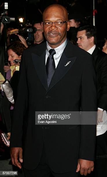 Actor Samuel L Jackson arrives at the Vanity Fair Oscar Party at Mortons on March 5 2006 in West Hollywood California