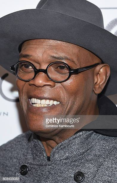 Actor Samuel L Jackson attends 2015 New York Film Critics Circle Awards at TAO Downtown on January 4 2016 in New York City