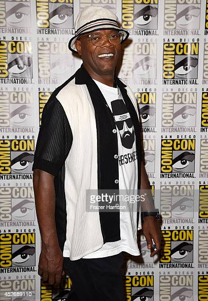 Actor Samuel L. Jackson attends 20th Century Fox Press Line during Comic-Con International 2014 at Hilton Bayfront on July 25, 2014 in San Diego,...
