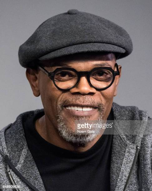 Actor Samuel L Jackson attends a panel during the 'Kong Skull Island' cast presentation at Apple Store Soho on March 6 2017 in New York City