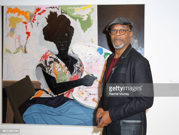 Actor Samuel L Jackson attends MOCA's Leadership Circle and Members' Opening of Kerry James Marshall Mastry at MOCA Grand Avenue on March 11 2017 in...