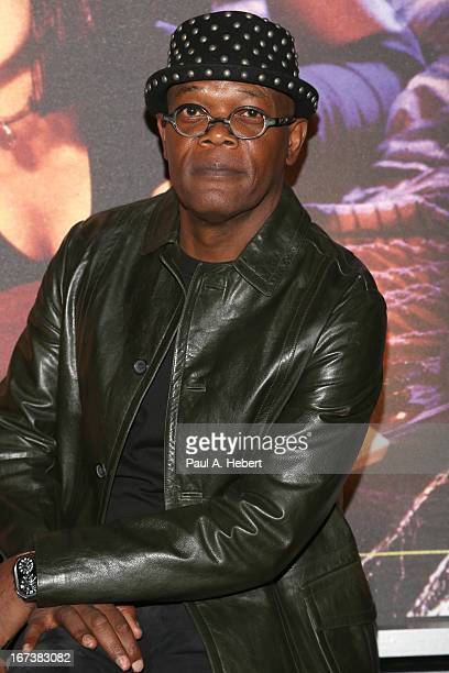 Actor Samuel L Jackson attends screening of 'Pulp Fiction' at Target Presents AFI's Night at the Movies at ArcLight Cinemas on April 24 2013 in...