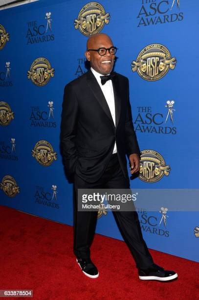 Actor Samuel L Jackson attends the 31st Annual American Society Of Cinematographers Awards at The Ray Dolby Ballroom at Hollywood Highland Center on...
