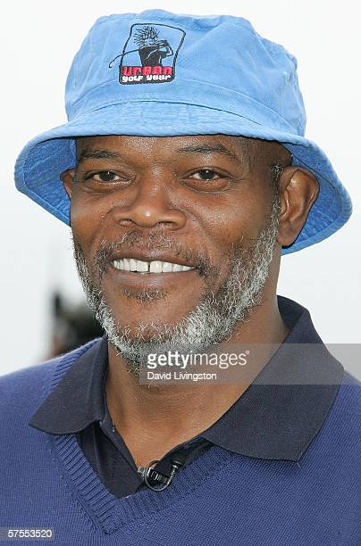 Actor Samuel L Jackson attends the 8th annual Michael Douglas Friends Golf Tournament presented by Lexus at the Trump National Golf Club on May 7...
