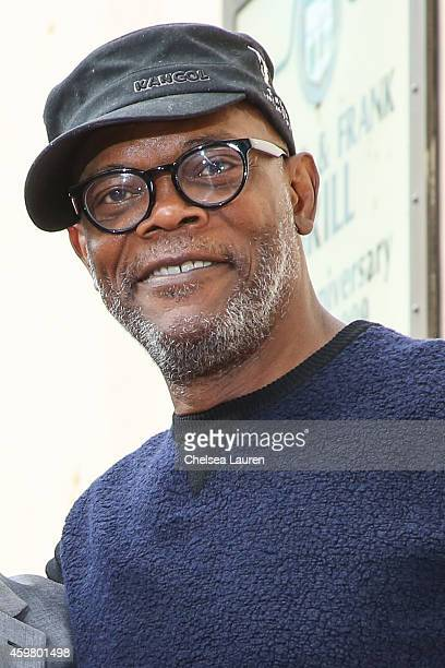 Actor Samuel L Jackson attends the ceremony honoring Christoph Waltz with a star on the Hollywood Walk of Fame on December 1 2014 in Hollywood...