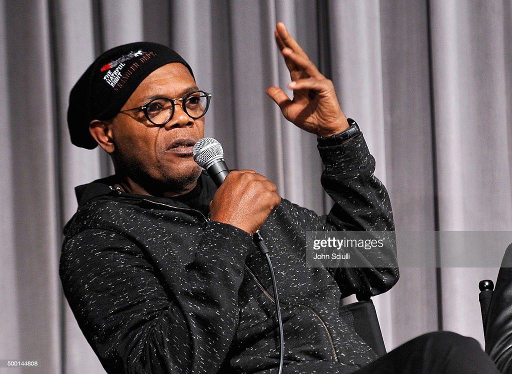 Actor Samuel L. Jackson attends the Hateful Eight SAG Screening and Q&A at the Pacific Design Center on December 5, 2015 in West Hollywood, California.