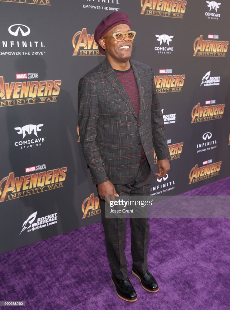 Actor Samuel L. Jackson attends the Los Angeles Global Premiere for Marvel Studios' Avengers: Infinity War on April 23, 2018 in Hollywood, California.