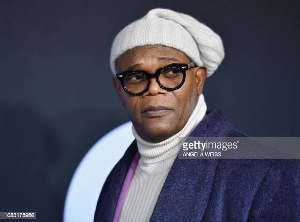 Actor Samuel L Jackson attends the premiere of Universal Pictures' 'Glass' at SVA Theatre on January 15 2019 in New York City