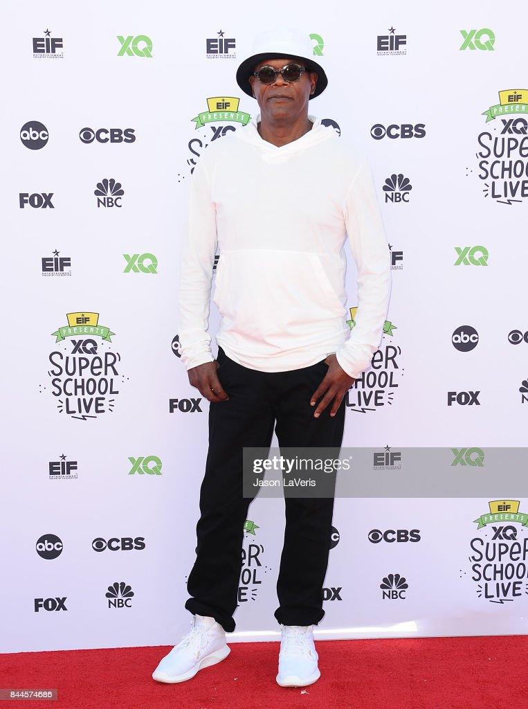Actor Samuel L. Jackson attends XQ Super School Live at The Barker Hanger on September 8, 2017 in Santa Monica, California.
