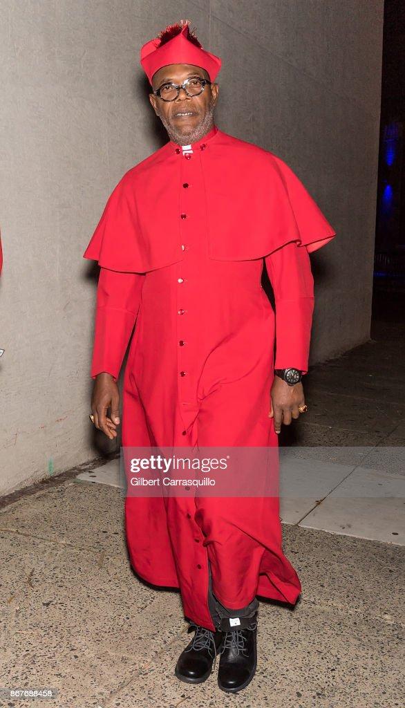 Actor Samuel L. Jackson is seen arriving at film director M. Night Shyamalan's Halloween party 'Shyamaween' on October 28, 2017 in Philadelphia, Pennsylvania.