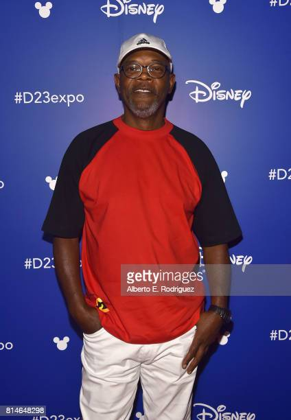 Actor Samuel L Jackson of INCREDIBLES 2 took part today in the Walt Disney Studios animation presentation at Disney's D23 EXPO 2017 in Anaheim Calif...
