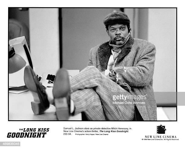 Actor Samuel L Jackson on set of the New Line Cinema movie The Long Kiss Goodnight circa 1996
