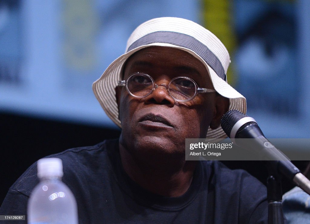 Actor Samuel L. Jackson speaks onstage at Marvel Studios 'Thor: The Dark World' and 'Captain America: The Winter Soldier' during Comic-Con International 2013 at San Diego Convention Center on July 20, 2013 in San Diego, California.