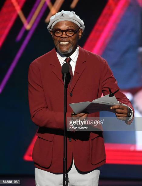 Actor Samuel L Jackson speaks onstage at The 2017 ESPYS at Microsoft Theater on July 12 2017 in Los Angeles California
