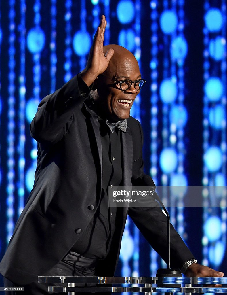 Actor Samuel L. Jackson speaks onstage during the Academy of Motion Picture Arts and Sciences' 7th annual Governors Awards at The Ray Dolby Ballroom at Hollywood & Highland Center on November 14, 2015 in Hollywood, California.