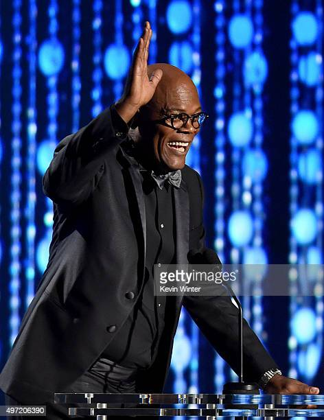Actor Samuel L Jackson speaks onstage during the Academy of Motion Picture Arts and Sciences' 7th annual Governors Awards at The Ray Dolby Ballroom...