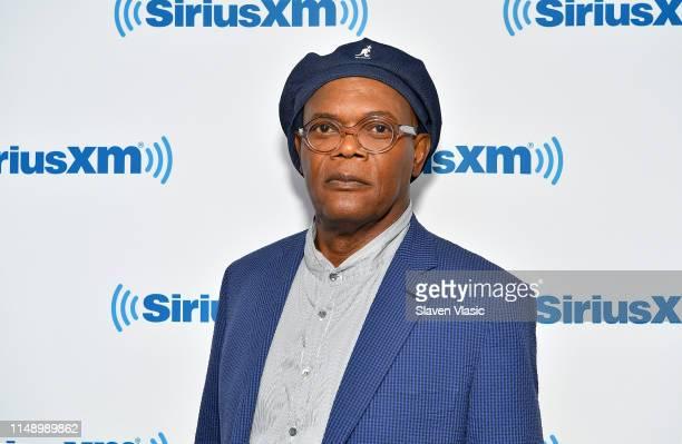 Actor Samuel L. Jackson visits SiriusXM Studios on June 10, 2019 in New York City.