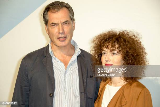 Actor Samuel Labarthe and Actress Blandine Bellavoir attends 19th Festival of TV Fiction Opening Ceremony on September 13, 2017 in La Rochelle,...