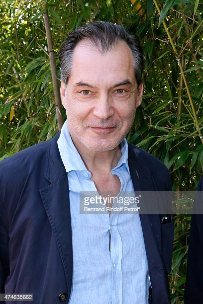 Actor Samuel Labarthe attends the 2015 Roland Garros French Tennis Open at Roland Garros on May 24 2015 in Paris France