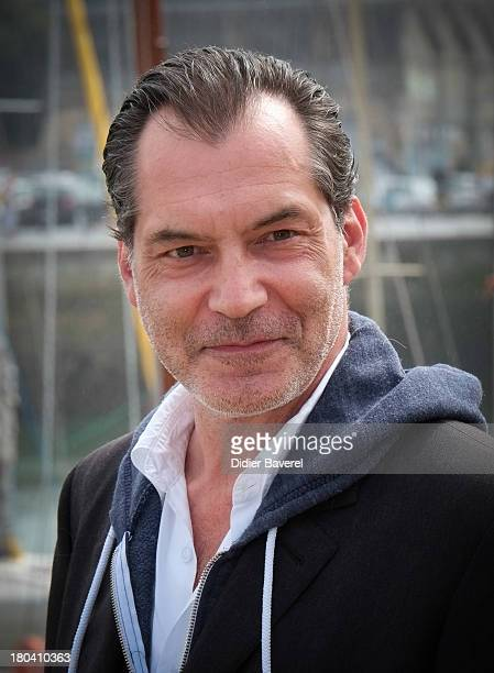 Actor Samuel Labarthe poses during the photocall of 'Petits Meutres D'Agatha Christie' on September 12 2013 in La Rochelle France