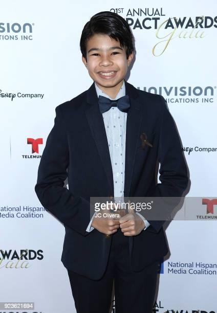 Actor Samuel 'Sammy' Sadovnik attends the 21st Annual National Hispanic Media Coalition Impact Awards Gala at Regent Beverly Wilshire Hotel on...