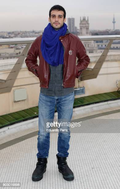 Actor Samuel Viyuela attends the 'Hablar por hablar' theatre play press conference at Circulo de Bellas Artes on January 9 2018 in Madrid Spain