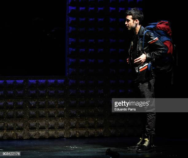 Actor Samuel Viyuela attends the theatre rehearsal of 'Hablar por hablar' theatre play at Circulo de Bellas Artes on January 10 2018 in Madrid Spain