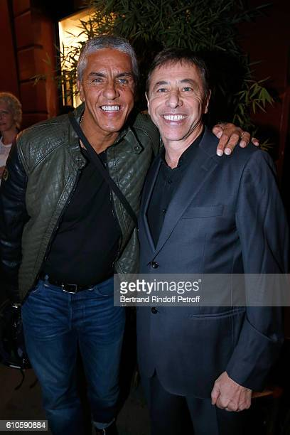 Actor Samy Naceri and Director of the Theater LouisMichel Colla attend the 'Trophees du Bien Etre' by Beautysane 2nd Award Ceremony at Theatre...