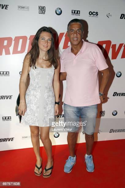 Actor Samy Naceri and his partner Marie de Fleurieu attend 'Overdrive' Paris Premiere at Cinema Gaumont Capucine on June 19 2017 in Paris France