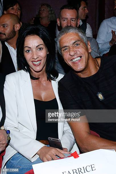 Actor Samy Naceri and his wife Audrey attend the 2015 Public performance of 'L'Entree Des Artistes' Held at Theatre de la Gaite Montparnasse on June...