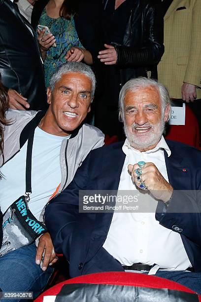 Actor Samy Naceri and Sponsor of the school 'L'Entree des Artistes' JeanPaulBelmondo attend the 2016 Public performance of Comedians School 'L'Entree...