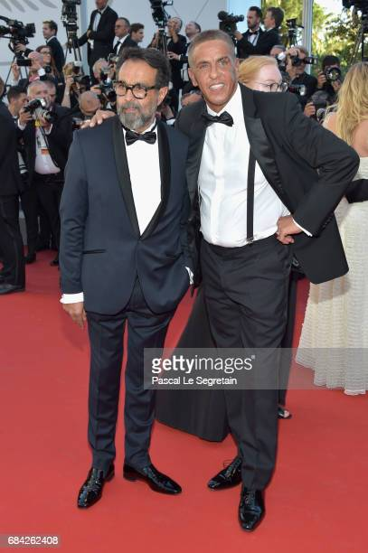 Actor Samy Naceri attends the 'Ismael's Ghosts ' screening and Opening Gala during the 70th annual Cannes Film Festival at Palais des Festivals on...