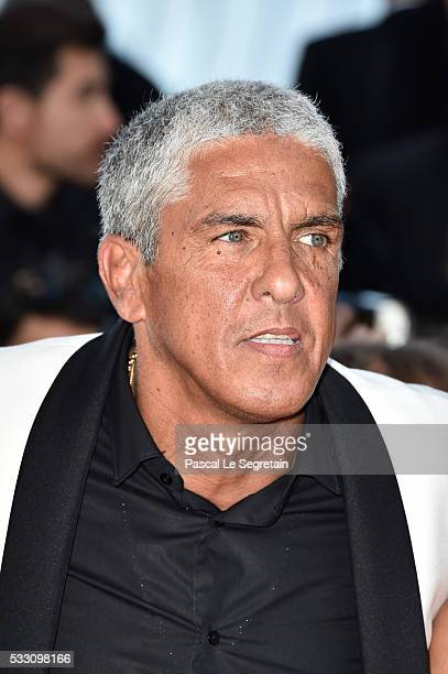 Actor Samy Naceri attends 'The Last Face' Premiere during the 69th annual Cannes Film Festival at the Palais des Festivals on May 20 2016 in Cannes...
