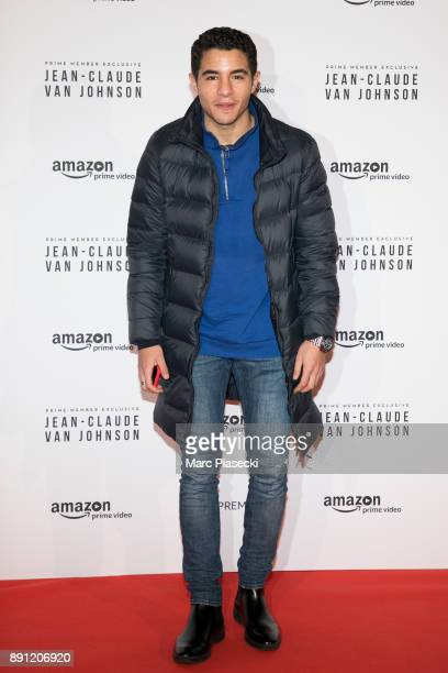 Actor Samy Seghir attends the Amazon TV series 'Jean Claude Van Johnson' Premiere at Le Grand Rex on December 12 2017 in Paris France