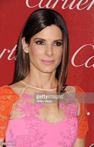 Actor Sandra Bullock arrives at the 25th Annual Palm Springs International Film Festival Awards Gala at Palm Springs Convention Center on January 4...