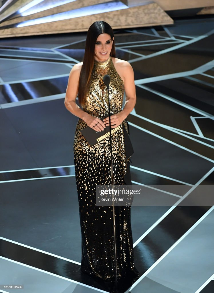 Actor Sandra Bullock speaks onstage during the 90th Annual Academy Awards at the Dolby Theatre at Hollywood & Highland Center on March 4, 2018 in Hollywood, California.