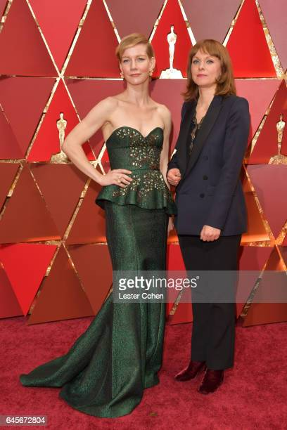 Actor Sandra Hüller and director Maren Ade attend the 89th Annual Academy Awards at Hollywood Highland Center on February 26 2017 in Hollywood...