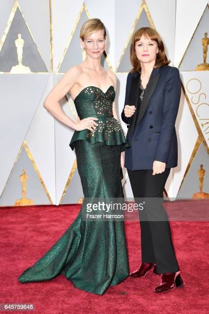 Actor Sandra Huller and director Maren Ade attend the 89th Annual Academy Awards at Hollywood Highland Center on February 26 2017 in Hollywood...