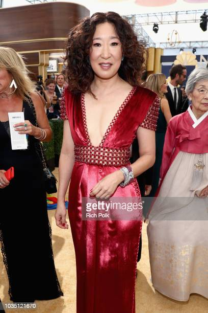 Actor Sandra Oh attends the 70th Annual Primetime Emmy Awards at Microsoft Theater on September 17 2018 in Los Angeles California