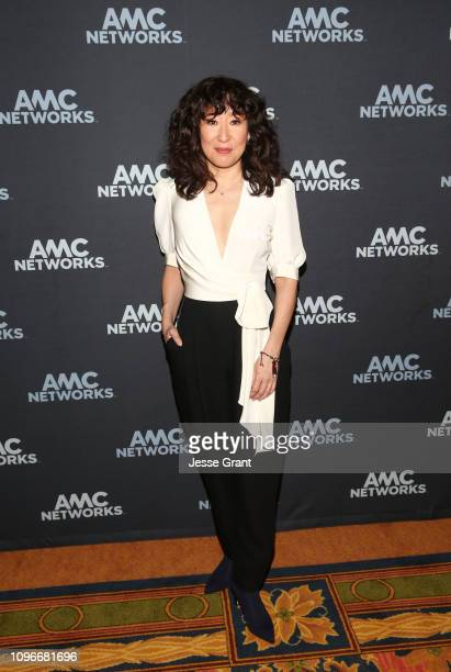 "Actor Sandra Oh attends the ""Killing Eve"" panel during the BBC America/AMC portion of the 2019 Winter TCA on February 9, 2019 in Pasadena, California."