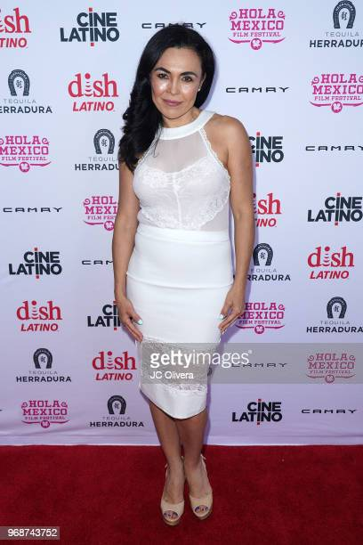 Actor Sandra Santiago attends The HOLA Mexico Film Festival presented by DishLATINO 'America I Too' and 'Eres Mi Pasion' Premieres at Cinepolis Pico...