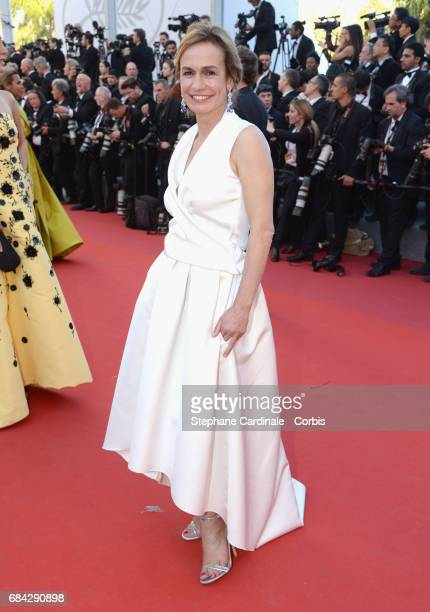 Actor Sandrine Bonnaire attends the 'Ismael's Ghosts ' screening and Opening Gala during the 70th annual Cannes Film Festival at Palais des Festivals...